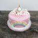 Geburtstagstorte Erwachsene - Einhorn mit Regenbogen, Wolken und Sternen