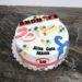 Geburtstagstorte Erwachsene - Ende 49er Zone, eine lustige Torte zum Thema alt werden. Verziert mit Tabletten, Gebiß und Taferl.