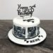 Geburtstagstorte Erwachsene - Motorrad Puch Monza, die Torte wurde mit Fotos von dem Motorrad verziert, krönender Abschluß ist ein Cake Topper.