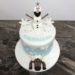 Geburtstagstorte Erwachsene - Olaf und Sven im Schnee, verziert wurde die Torte noch mit einer Schneedecke, Schneeflocken und Schneebällen.