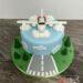 Geburtstagstorte Erwachsene - Über den Wolken muss die Freiheit woll grenzenlos sein, zeigt das Flugzeug beim Starten.