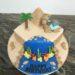 Geburtstagstorte Erwachsene - Urlaub in Ägypten mit allem was dazugehört, Meer, Palme, Pyramide und ein Kamel sind auf der Torte.