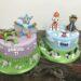 Geburtstagstorten Mädchen und Buben - Fidi die Fledermaus und Chase und Marshall von der Paw Patrol befinden sich auf den Torten.